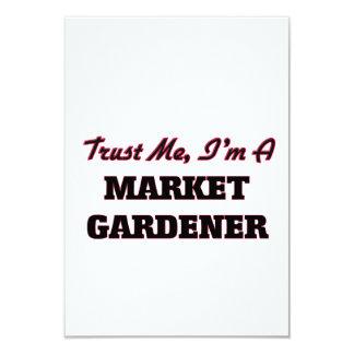 Trust me I'm a Market Gardener 9 Cm X 13 Cm Invitation Card