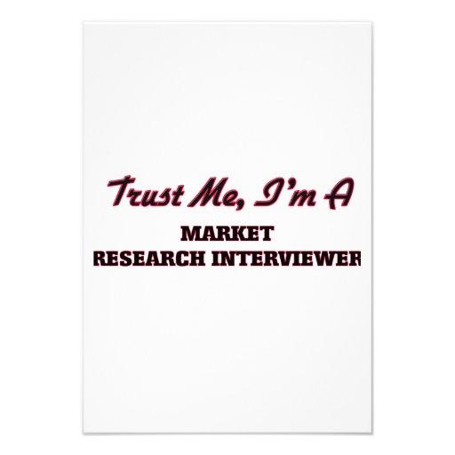 Trust me I'm a Market Research Interviewer Custom Announcement