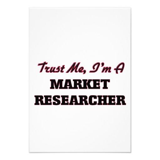 Trust me I'm a Market Researcher Custom Invitations