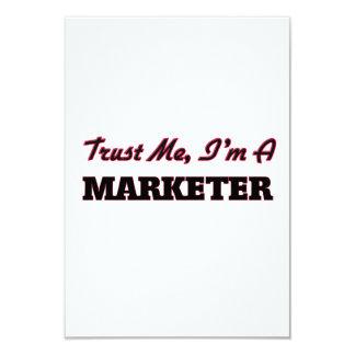 Trust me I'm a Marketer 9 Cm X 13 Cm Invitation Card