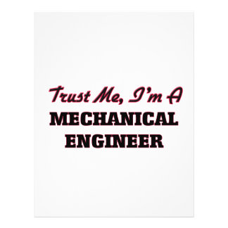Trust me I'm a Mechanical Engineer Personalized Flyer