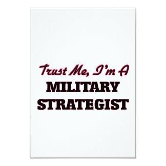 """Trust me I'm a Military Strategist 3.5"""" X 5"""" Invitation Card"""
