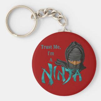 Trust Me I'm A Ninja Basic Round Button Key Ring