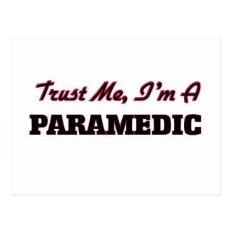 Trust me I'm a Paramedic Postcard
