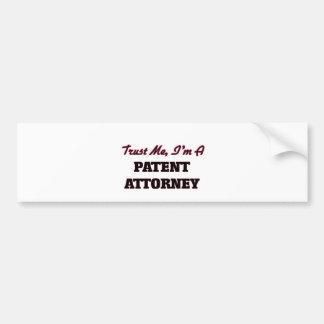 Trust me I'm a Patent Attorney Bumper Stickers