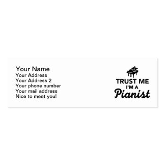 Trust me I'm a Pianist Business Card