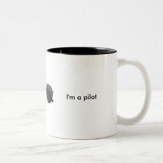 Trust me I'm a pilot Two-Tone Coffee Mug