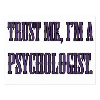 Trust me, I'm a psychologist Postcard