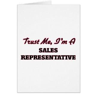 Trust me I'm a Sales Representative Card