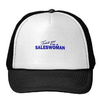 Trust Me I'm a Saleswoman Mesh Hats