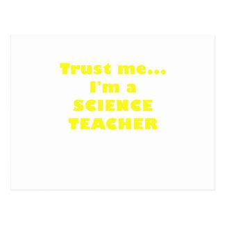 Trust Me Im a Science Teacher Postcard