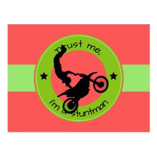 Trust me, I'm a stuntman Postcard