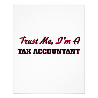 Trust me I'm a Tax Accountant Flyer Design