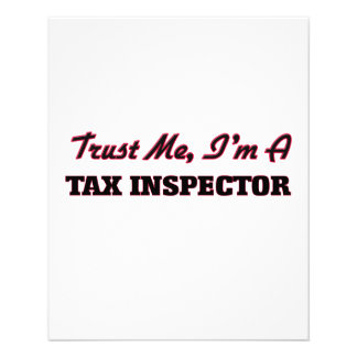 Trust me I'm a Tax Inspector 11.5 Cm X 14 Cm Flyer