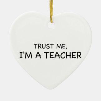 Trust Me, I'm A Teacher Ceramic Heart Decoration