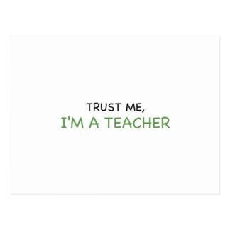 Trust Me, I'm A Teacher Postcard