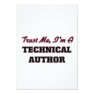 "Trust me I'm a Technical Author 5"" X 7"" Invitation Card"