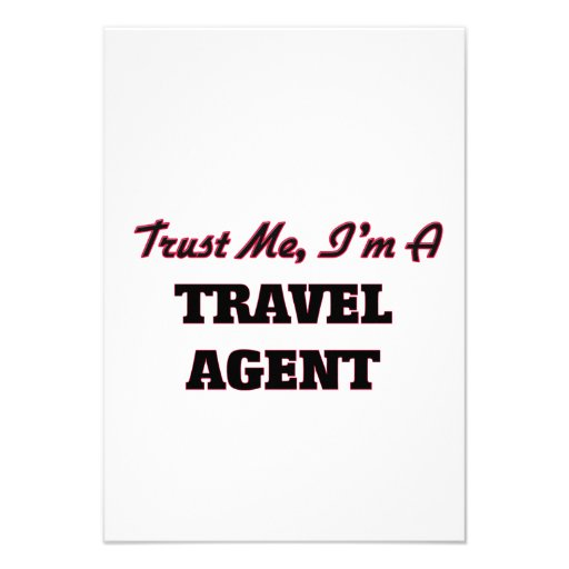 Trust me I'm a Travel Agent Custom Invitations