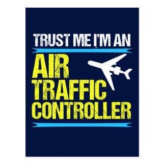 Trust Me I'm an Air Traffic Controller Postcard
