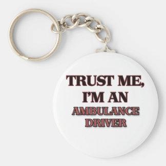 Trust Me I'm an Ambulance Driver Basic Round Button Key Ring