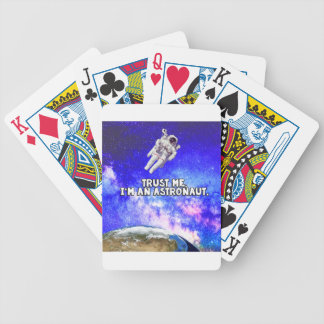 Trust Me I'm an Astronaut Bicycle Playing Cards