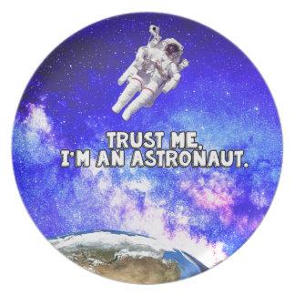 Trust Me I'm an Astronaut Plate