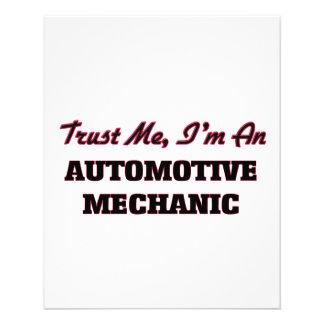 Trust me I'm an Automotive Mechanic Personalized Flyer