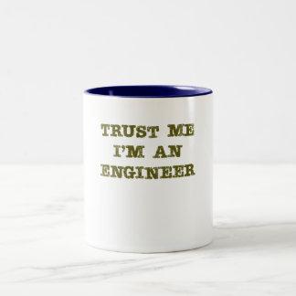 Trust Me I'm an Engineer (brown) Two-Tone Coffee Mug