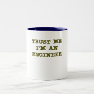 Trust Me I'm an Engineer (brown) Two-Tone Mug