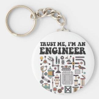 Trust me, I'm an engineer Key Ring