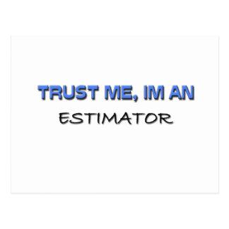 Trust Me I'm an Estimator Postcard