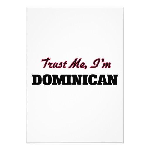 Trust me I'm Dominican Personalized Invitations