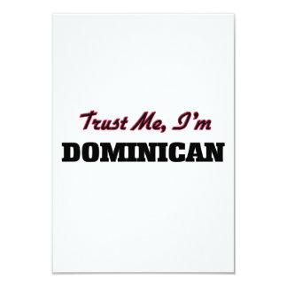 "Trust me I'm Dominican 3.5"" X 5"" Invitation Card"
