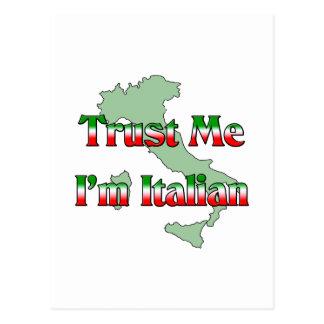 Trust Me I'm Itailan Postcards