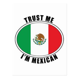 Trust Me I'm Mexican Postcard