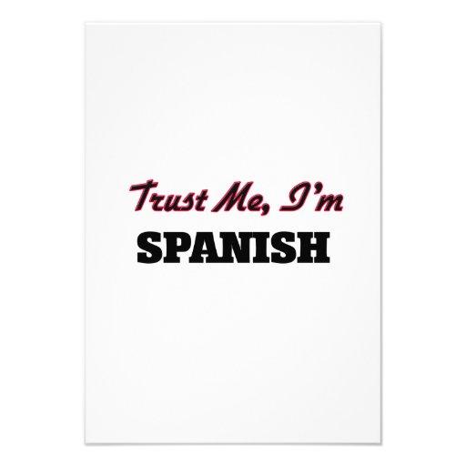 Trust me I'm Spanish Invitation
