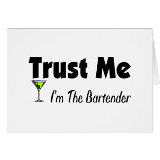 Trust Me I'm The Bartender Card
