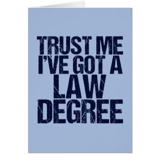 Trust Me Lawyer Card