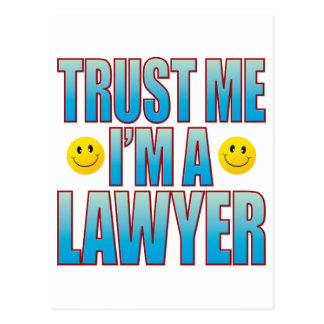 Trust Me Lawyer Life B Postcard