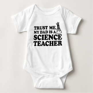 Trust Me My Dad is a Science Teacher Baby Bodysuit
