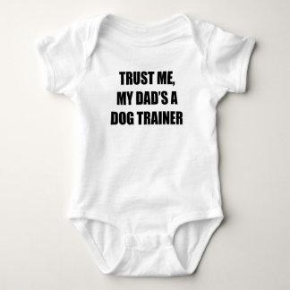 Trust Me My Dad's A Dog Trainer Baby Bodysuit