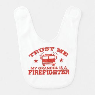 Trust Me My Grandpa is a Firefighter Bib
