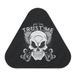 Trust Me Smiling Skull and Wings