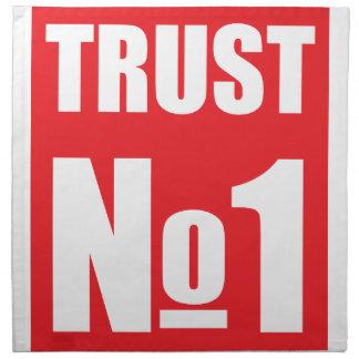 Trust no one napkin