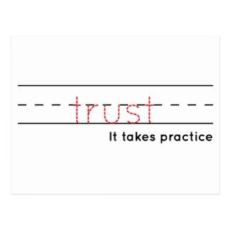 trust | Practice Postcard