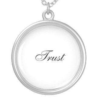 Trust Silver Plated Necklace