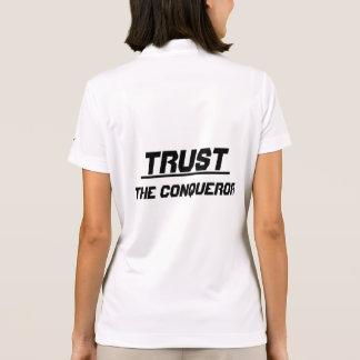 Trust the conqueror polo shirt