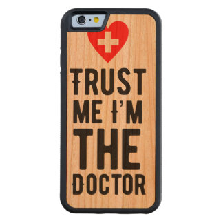Trust the Doctor Carved Cherry iPhone 6 Bumper Case