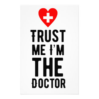 Trust the Doctor Personalized Stationery