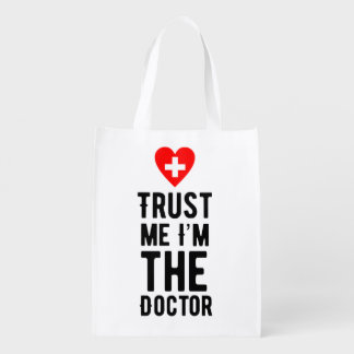 Trust the Doctor Reusable Grocery Bag